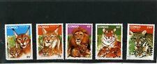 CONGO 1992 Sc#978-982 WILD ANIMALS SET OF 5 STAMPS MNH