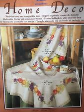 Vervaco Printed Table Runner with attached lace Fruit 39 x 100 cm