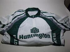 Team Huntington Bank Cycling Jersey MEDIUM Green Bike Biking Womens
