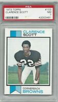 1973 Topps football card #103 Clarence Scott, Cleveland Browns graded PSA 7