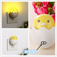New EU Plug Duck Wall Socket Light-control Sensor LED Night Light Bedroom lamp