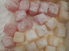 1000GRMS TURKISH DELIGHT ROSE AND LEMON 1 KILO SWEETS 1KG