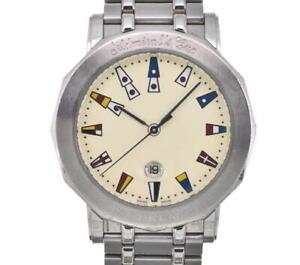 CORUM Admirals cup 99.430.20 Date Ivory Dial Quartz Men's Watch B#102205