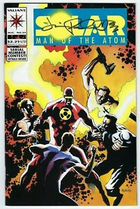 Solar Man of the Atom #24 Valiant Comics,High grade signed by Jimmy Palmiotti.