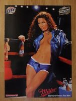 Sexy Girl Beer Poster Miller Lite ~ Hot Latina Boxer in A Boxing Ring