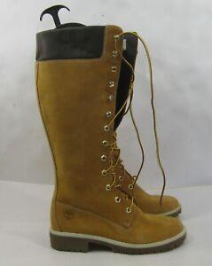 Timberland 23345 14-Inch Premium Waterproof Boots Wheat/Nubuck WOMEN Size  7.5