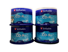 200 Verbatim CD-R 700 MB 52x 80 mins Discs #94691 - Open Box Special 4 x 50-pk!