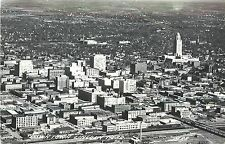1940s RPPC Postcard; Air View of Downtown Lincoln NE Lancaster Co. M88 LL Cook