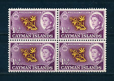 CAYMAN ISLANDS 1962 DEFINITIVES SG167 1½d BLOCK OF 4 MNH