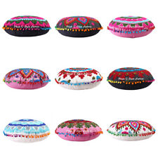 Indian Suzani Embroidery Cotton Cushion Cover Meditation Floor Pillow Cushion 17