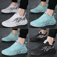 Mens Casual Sneakers Sports Running Shoes Fashion Slip On Athletic Mesh Surface