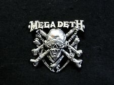 MEGADETH 1993 VINTAGE PEWTER PIN BUTTON NOT SHIRT PATCH CD UK IMPORT POKER/ALCHE