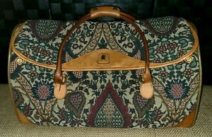 👜 Vintage HARTMANN Flame Tapestry Duffle Carry On Travel Bag
