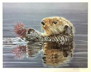 Ron Parker Sea Otter With Urchin Signed & Numbered Limited Edition