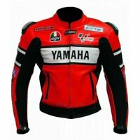 Yamaha Motorcycle Cowhide Leather Street Racing Motorbike Jacket