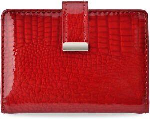 Kreditkartenetui elegantes Damen - Etui für Visitenkarten Kreditkarten Leder rot