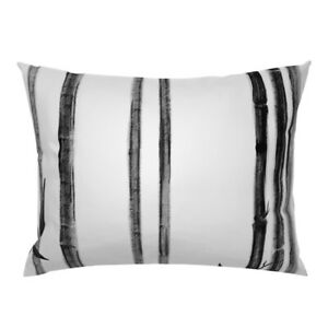 Black And White Bamboo Forest Large Scale Pillow Sham by Spoonflower