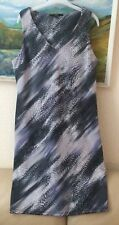 NEXT spring/summer ladies beautiful grey print dress size 16 EXCELLENT CONDITION