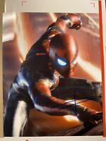 "TOM HOLLAND SPIDER-MAN MARVEL HAND SIGNED AUTOGRAPH 8x10"" PHOTO GAI COA"