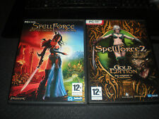 LOT JEUX PC SPELLFORCE + SPELLFORCE 2 GOLD EDITION AVEC EXTENSION DRAGON STORM