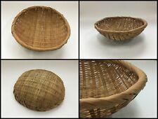 Japanese Bamboo Basket Takekago Vintage Cage Sun-Dried Round Brown R139