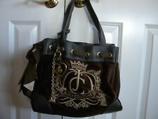 NWOT RARE JUICY COUTURE BROWN VELOUR SCARF TRIM DAYDREAMER BAG CHARM