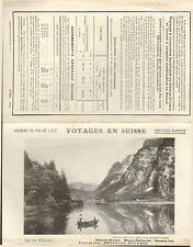 CHEMINS DE FER DE L'EST BROCHURE VOYAGES EN SUISSE 1910