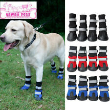 4PCS Dog long-tube shoes medium and large dog large wear-resistant snow boots
