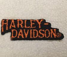 Harley Davidson Patch Small Orange And Black