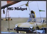 1975 MG Midget original British sales brochure