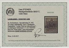 LV 1850 30C, DUNKELBRAUN! FARBFRISCH! SEIDENPAPIER! P.F.! Uwe STEINER Befund!