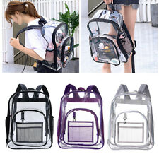 Clear Backpack Transparent See Through School Security Heavy Duty Bookbag