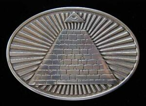 GREAT SEAL PRYAMID WITH EYE OF HORUS BELT BUCKLE NEW!