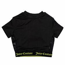 Junior Girls Juicy Couture Juicy Swim T-Shirt In Black- Elasticated Hem And
