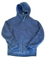 Nike Sportswear Tech Fleece Sherpa Windrunner Hoodie Dark Blue Mens Size M NWT