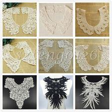Embroidered Cotton Lace Neck Trim Floral Neckline Collar Clothes Sewing Applique
