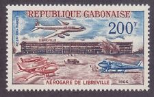 Gabon C49 MNH OG 1966 Libreville Airport Inauguration Airmail Issue VF