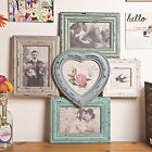 Just Contempo 46 X 45 Cm Rustic Heart Collage Wooden Multi Photo Frame Aqua B...
