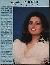 Coupure de presse Clipping 1976 Gigliola Cinquetti   (1 page)