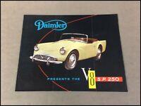 1961 1962 Daimler SP250 S.P. 250 V8 Original Vintage Car Sales Brochure Folder