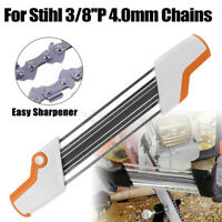 2 IN 1 Metal Easy Chainsaw Chain File Sharpener 3/8''P 4.0mm Replace For Stihl