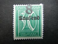 Germany 1922 1923 ERROR Stamp MNH Wmk Overprint Surcharged Deutsches Reich Germa