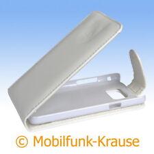 Flip Case Etui Handytasche Tasche Hülle f. Samsung GT-I9100 / I9100 (Weiß)