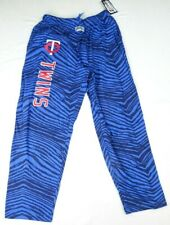 Minnesota Twins MLB Zubaz Men's Drawstring Zebra Sweatpants