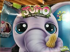 Juno Interactive Baby Elephant with Moving Trunk NEW DAMAGED BOX