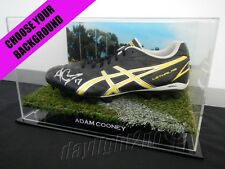 ✺Signed✺ ADAM COONEY Boot COA Western Bulldogs Essendon Bombers 2017 Guernsey