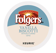 Folgers Vanilla Biscotti Keurig K-Cups 24 Count - FREE SHIPPING