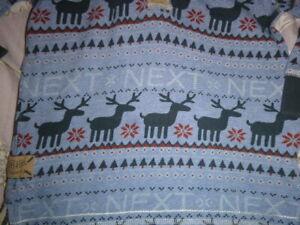 boys next christmas hooded top/hoodie age 2-3 years