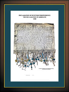 DECLARATION OF ARBROATH FINE ART PRINT (Scotland's Declaration of Independence)