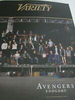 Avengers Endgame Variety Magazine 2019  12 page  booklet NEW movie promo